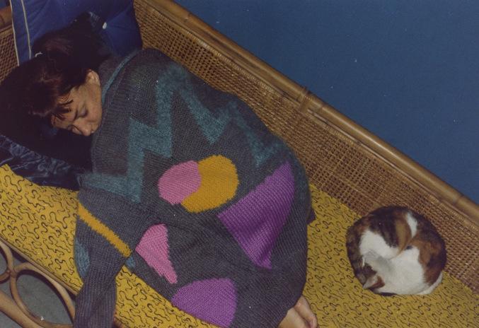 Sally sleeps under Jenny